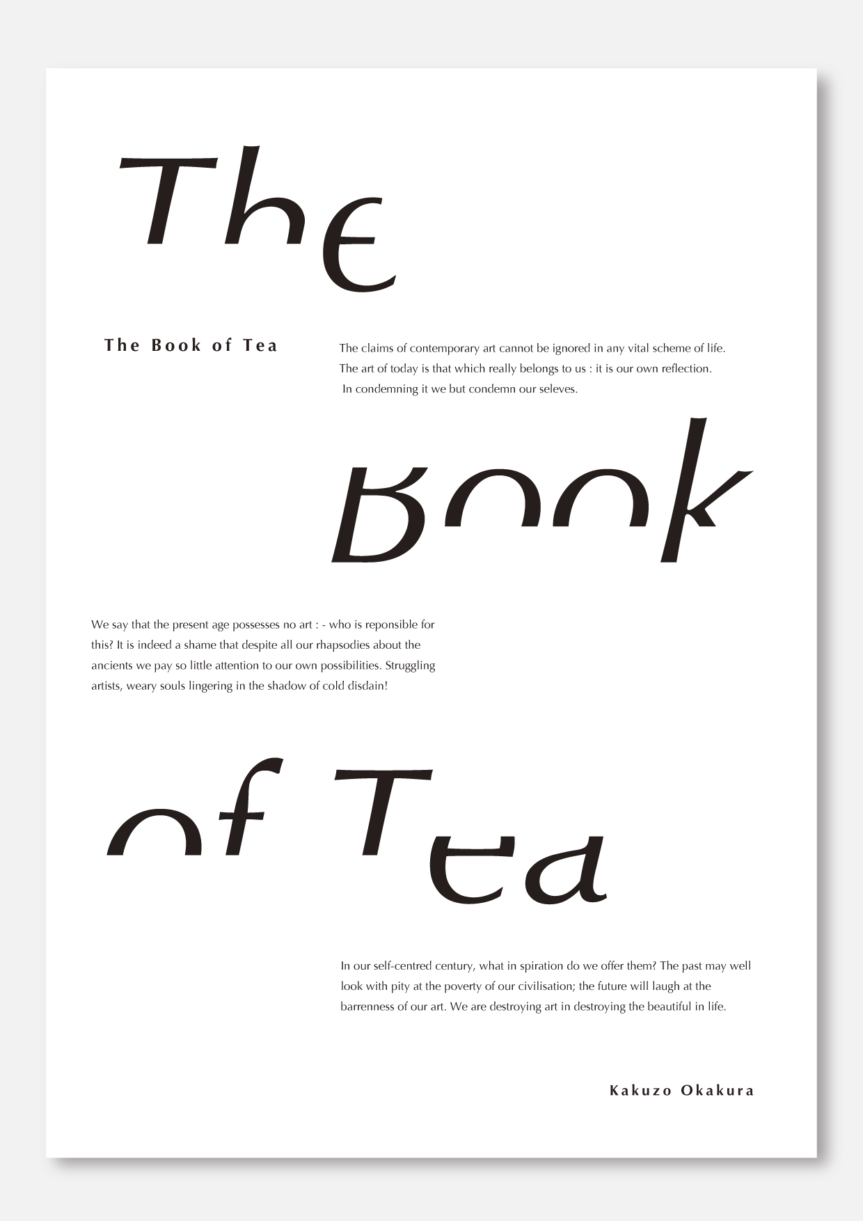 茶の本』タイポグラフィ EJIMA D...